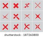 vector no icons set. cancel ... | Shutterstock .eps vector #187263800