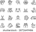 manufacturing icons vector... | Shutterstock .eps vector #1872649486