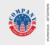 logo design an american military force emblem with a soldier holding a weapon.This logo design is suitable for your project.