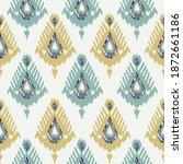 ethnic ikat chevron pattern... | Shutterstock .eps vector #1872661186