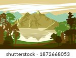 mountain landscape. mountain... | Shutterstock .eps vector #1872668053