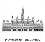 austrian palace landmark.... | Shutterstock .eps vector #187269809