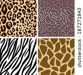 zebra  leopard  snake  giraffe... | Shutterstock .eps vector #187271843