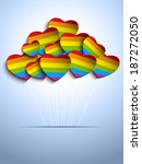 vector   gay flag hearts... | Shutterstock .eps vector #187272050