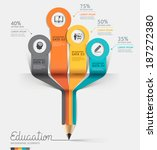 education pencil infographics... | Shutterstock .eps vector #187272380