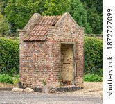 Old Brick Victorian Outhouse ...