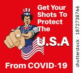 get your covid shots to protect ...   Shutterstock .eps vector #1872738766