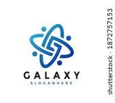 galaxy  modern logo design...   Shutterstock .eps vector #1872757153
