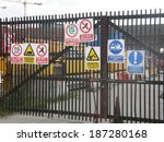 building site safety signs | Shutterstock . vector #187280168