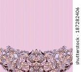 decorative floral background ... | Shutterstock .eps vector #187282406