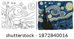 "coloring page with ""the starry... 