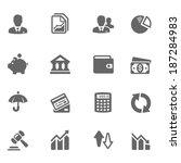 business   finance icon set | Shutterstock .eps vector #187284983
