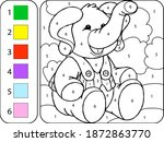 Color The Cute Elephant By...