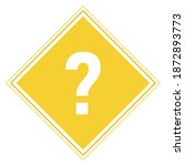 vector yellow sign icon with a... | Shutterstock .eps vector #1872893773