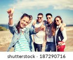 summer holidays and teenage... | Shutterstock . vector #187290716