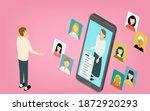 image illustration of a man... | Shutterstock .eps vector #1872920293