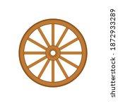 wood wheel vector. wood wheel...   Shutterstock .eps vector #1872933289
