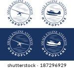 emblem of hydroplane | Shutterstock .eps vector #187296929