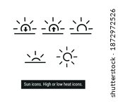 vector image. weather icons....   Shutterstock .eps vector #1872972526