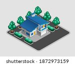 private house. isometric view...   Shutterstock .eps vector #1872973159