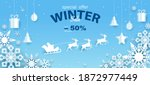 banner  discounts up to  50  on ... | Shutterstock .eps vector #1872977449