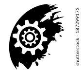 gear symbol  black blot vector   Shutterstock .eps vector #187299173