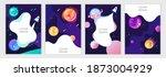 set of cartoon space... | Shutterstock .eps vector #1873004929