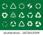 set recycle icons. label... | Shutterstock .eps vector #1873015549