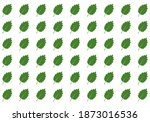 set of green various leaves.... | Shutterstock .eps vector #1873016536