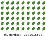 set of green various leaves.... | Shutterstock .eps vector #1873016536
