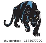 black panther predator... | Shutterstock .eps vector #1873077700