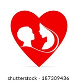 mother and son | Shutterstock . vector #187309436