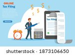 online income tax filing  tax... | Shutterstock .eps vector #1873106650