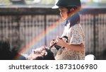 asian school kid girl with... | Shutterstock . vector #1873106980