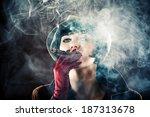 beautiful glamorous woman in... | Shutterstock . vector #187313678