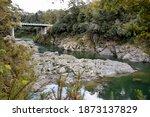 Green waters of pelorus river...