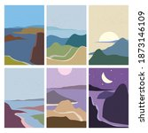 set landscapes abstract modern... | Shutterstock .eps vector #1873146109