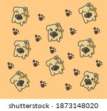 background of the dogs for... | Shutterstock .eps vector #1873148020