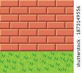 orange brick texture pixel art. ...   Shutterstock .eps vector #1873149556