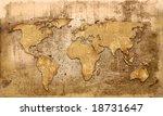 world map vintage artwork | Shutterstock . vector #18731647