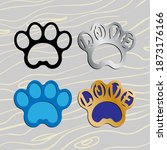 Cat Or Dog Paw With Lettering...