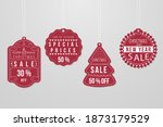 christmas sale promotion tags... | Shutterstock .eps vector #1873179529