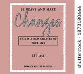 slogan glitter text print...   Shutterstock .eps vector #1873180666
