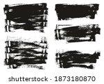 flat sponge thin artist brush...   Shutterstock .eps vector #1873180870