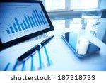 image of documents  pen ... | Shutterstock . vector #187318733