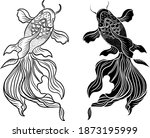 beautiful line art of gold fish ...   Shutterstock .eps vector #1873195999