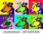 Colorful Pop Art Style Dog Image