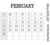 2021 calendar planner. february.... | Shutterstock .eps vector #1873207930