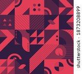 abstract geometry  neo geo ... | Shutterstock .eps vector #1873208899