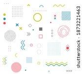 memphis abstract geometric line ... | Shutterstock .eps vector #1873221463